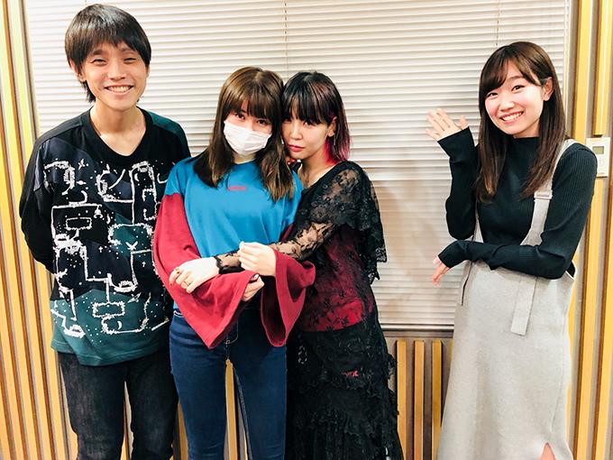 左から吉田尚記アナ、戦慄かなの、大森靖子、田所あずさ(アシスタント)